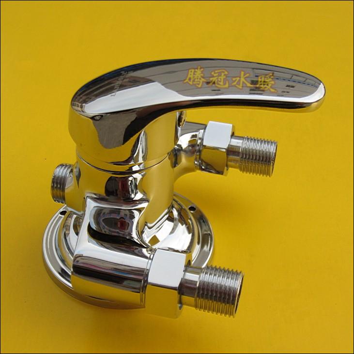 全铜明装三角淋浴龙头 明管水龙头 太阳能上水阀 混水阀龙头商品图片图片