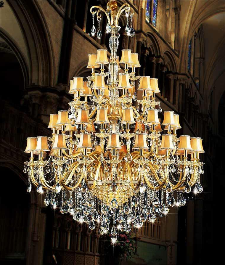 欧式水晶吊灯现代客厅灯具大型蜡烛水晶灯创意酒店图片