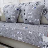 菲诗卡四季布艺全棉面料沙发垫子防滑沙发套沙发罩巾卡通动漫坐垫