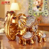 金传承 欧式家居酒柜装饰品招财大象电视柜摆件客厅创意结婚礼物