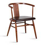 新古典现代明椅 太师椅圈椅实木椅 高档餐椅卧室书房休闲椅木椅子
