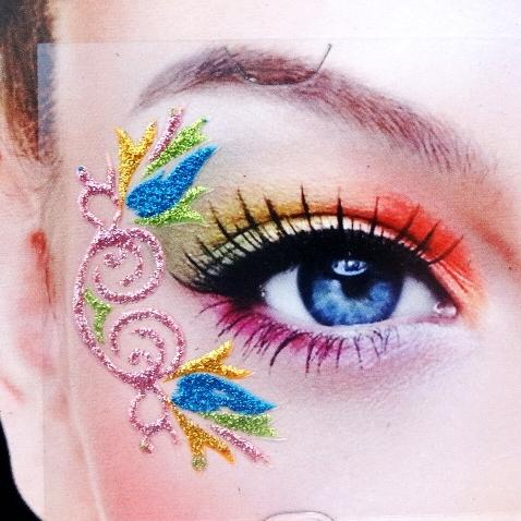 新品时尚艺术创意眼妆仿蕾丝眼贴眼线贴纸镂空眼影贴眼角贴商品图片图片