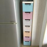 夹缝收纳柜20宽30CM厨房缝隙储物整理柜移动带轮懒角落窄柜小品雅