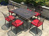 阳台咖啡桌椅户外庭院铁艺铸铝桌椅组合套件室外创意休闲别墅酒店