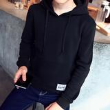 男士2016新款秋季套头卫衣青少年韩版外套修身学生春秋连帽男装潮