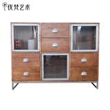 优梵艺术 印象798美式楝木玄关柜储物柜创意装饰柜子实木收纳柜