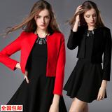2016春季新款超短外套长袖开衫小外搭女士春秋短款小外套西装109