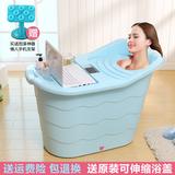 超大号塑料洗澡桶成人浴桶泡澡桶儿童浴盆洗澡盆可坐木沐浴桶加厚