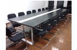 黑白色长条形办公会议桌简约现代拼接大小形会议桌员工培训桌班台