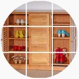 百叶门鞋柜 楠竹实木玄关2门3门大容量简易透气组合门厅鞋柜特价