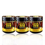 韩国进口零食乐天梦幻罐装72高浓度纯黑巧克力好吃3罐休闲食品