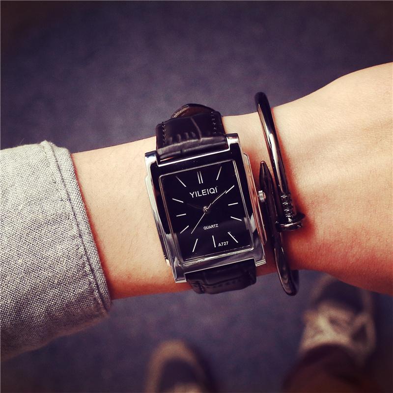 大表盘青少年中学生韩版男式休闲男表快手红人天佑同款手表男方形商品图片
