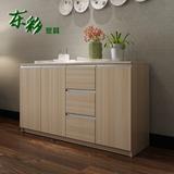 东彩 餐边柜碗柜可定制超大储物三门三抽屉餐厅柜简约厨房厨柜