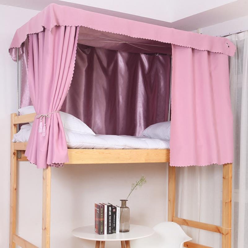 大学生宿舍床帘上铺寝室下铺单色纯色加厚床幔公主遮光布帘子神器商品图片