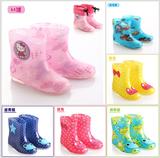 外贸韩国可爱儿童水晶果冻卡通加绒雨鞋 男女童时尚防滑水鞋雨靴