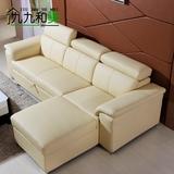 真皮沙发床头层牛皮多功能 客厅小户型两用可折叠转角组合沙发