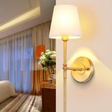 美式复古全铜壁灯欧式简约过道走廊壁灯温馨卧室床头镜前灯纯铜灯