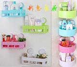 创意浴室置物架 卫生间壁挂厕所洗手间吸盘三角置物架子墙上厨房