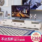 环友地中海电视柜简约北欧创意地柜欧式田园客厅家具实木电视机柜