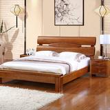 榆木床厚重款婚床全实木1.51.8米双人床大床特价现代中式全实木床
