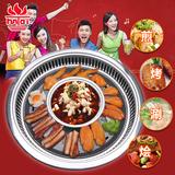 多功能自助烤肉机 韩国烤涮一体烤肉炉商用烧烤炉大号电红外线圆