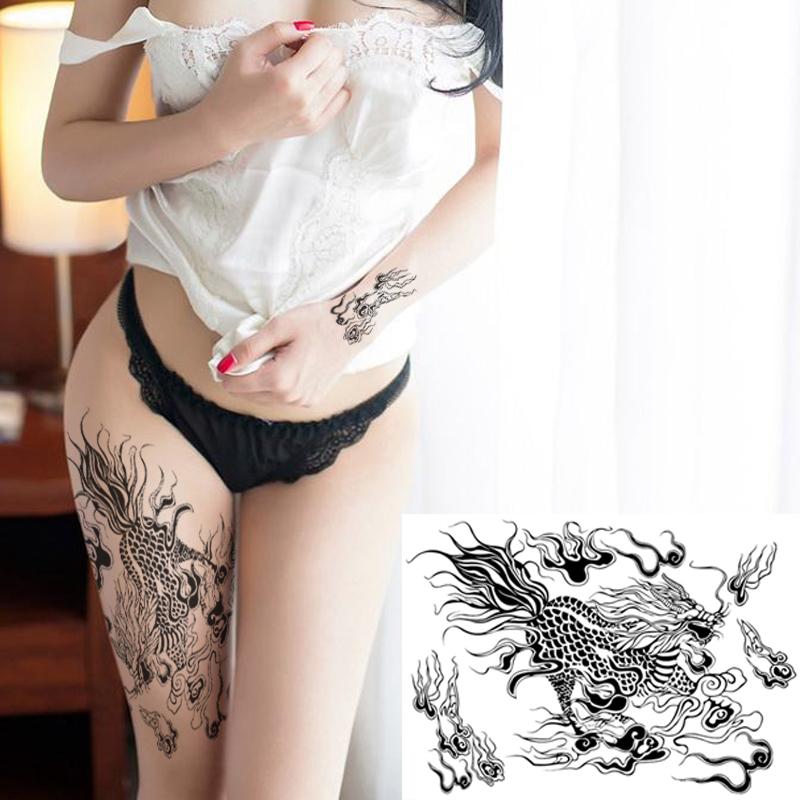 纹身贴男女通用麒麟全臂防水持久 仿真刺青 个性隐形满背大腿贴纸商品