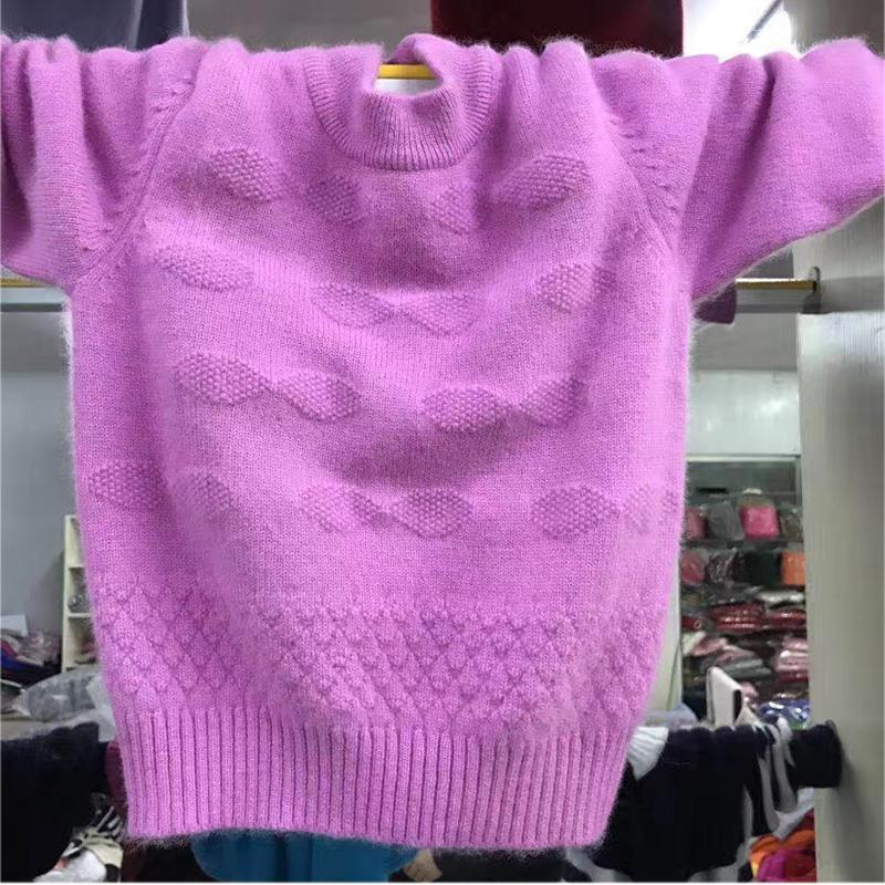 儿童纯羊绒衫韩版宝宝毛衣女童打底衫中大童加厚套头衫圆领羊毛衫商品图片