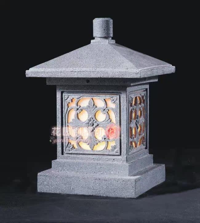 中式雕刻仿石灯花园别墅灯户外灯柱头灯围墙灯墙头灯门头灯hl8008商品图片