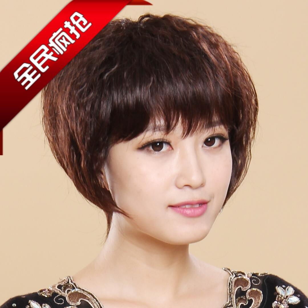 假发 假发女短发蓬松bobo头发型 女式假发卷发高温丝斜刘海仿真发商品图片