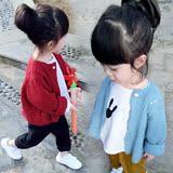童装女童春秋装毛衣婴儿小童装韩版开衫毛衣1-234岁宝宝外套上衣