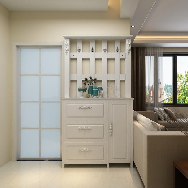玄关鞋柜衣帽柜组合现代简约鞋柜带挂衣架一体多功能经济型门厅柜商品