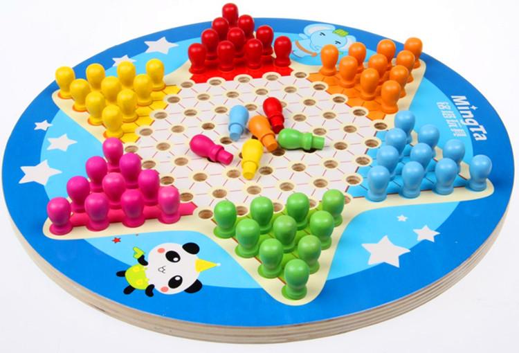 六角跳棋 中国跳棋五子棋 学生儿童亲子互动桌面游戏 益智玩具商品图片