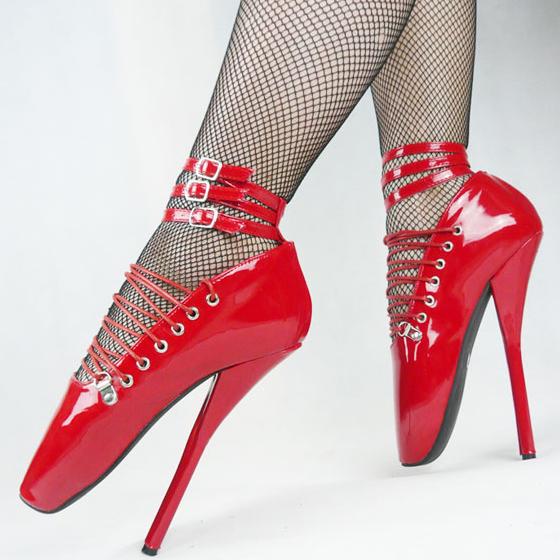 元旦商品18/20cm夜店超细高跟鞋情趣特价性感舞鞋sm芭蕾调教鞋红色情趣用品肛塞图片