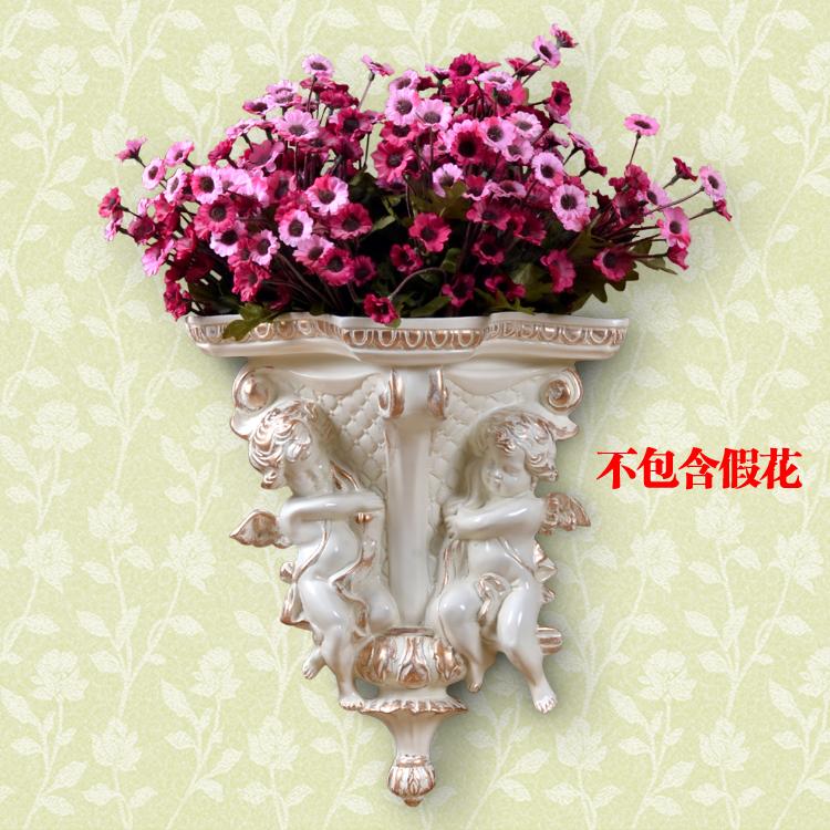 欧式天使壁挂花瓶花篮 墙面壁饰挂件花艺 田园家居挂饰墙壁装饰品商品图片