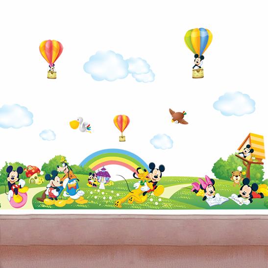 包邮大型可移除儿童卡通墙贴 米奇超大儿童房幼儿园装饰布置墙贴商品图片