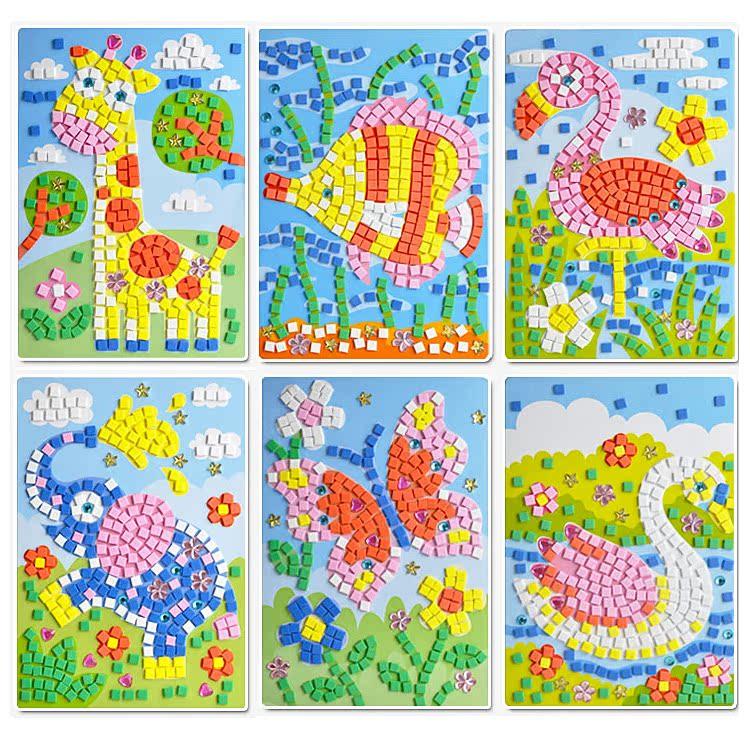 儿童手工立体粘贴画_eva3d立体贴画儿童幼儿园手工制作粘贴画_贴画网