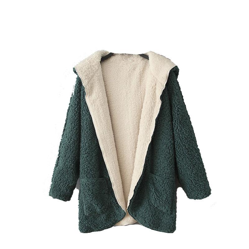 外贸原单正品尾货剪标折扣女装加厚羊羔绒蝙蝠袖两面穿棉衣外套商品图片