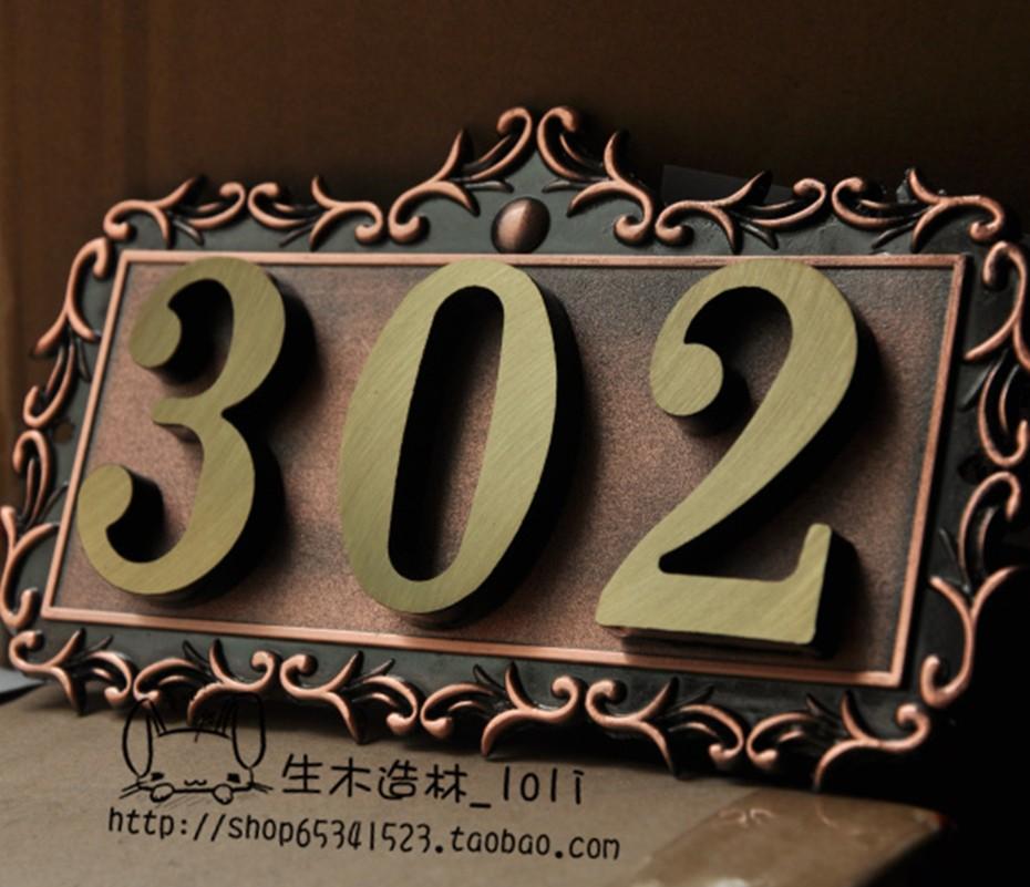 包邮德国卡博拉手商品牌纯铜欧式号码全铜仿古门牌号a商品多位别墅大全设计图片别墅图片