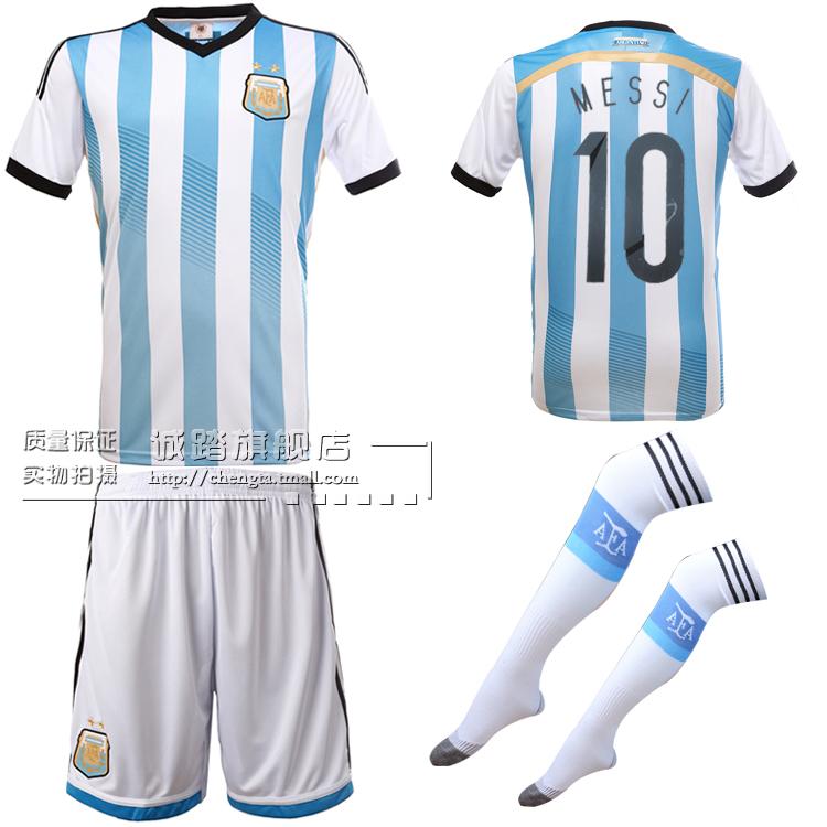 2014世界杯 阿根廷球衣足球服套装 10号梅西球衣足球队服商品图片价格图片