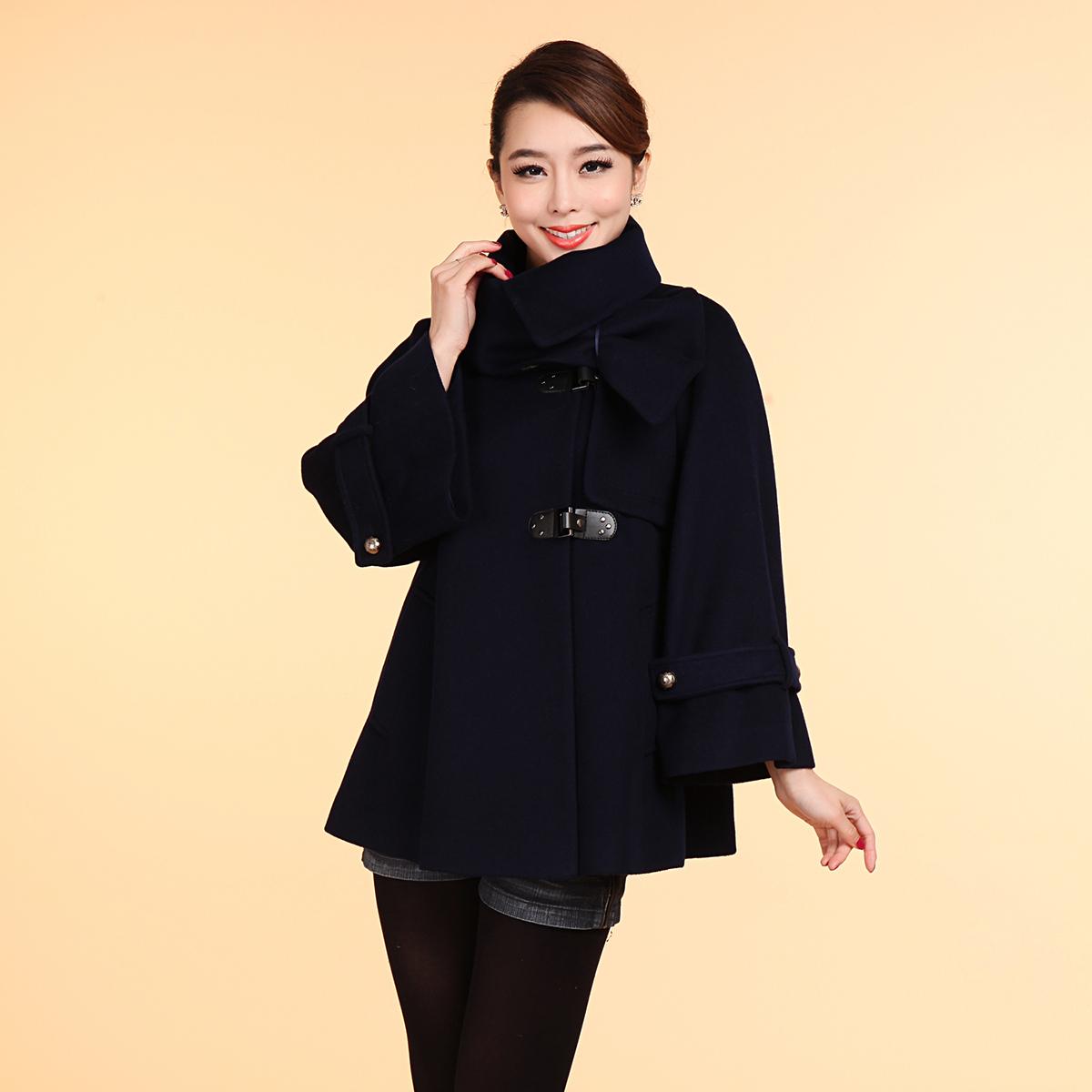 琢盈品牌女装专柜正品2013冬季新中长韩版九分袖羊毛大衣a-134001商品