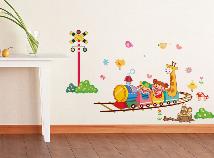 大号儿童房卡通风格墙贴 可移除墙贴纸 墙贴卧室 疯狂过山车墙贴商品