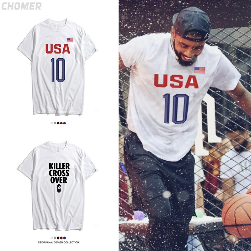 创意美国队欧文头像t恤德鲁大叔印花短袖凯尔特人篮球半袖衣服商品图片
