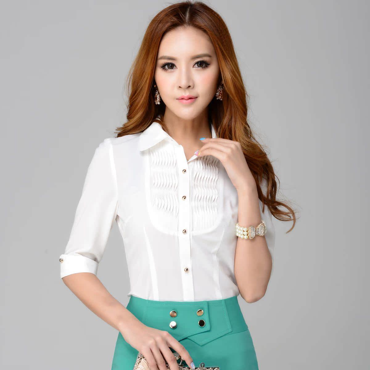 女式中袖衬衫_女式中袖衬衫