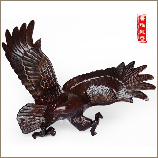 【全场特价】红木工艺品 大展宏图 大鹏展翅 木雕老鹰 挂鹰商品图片价