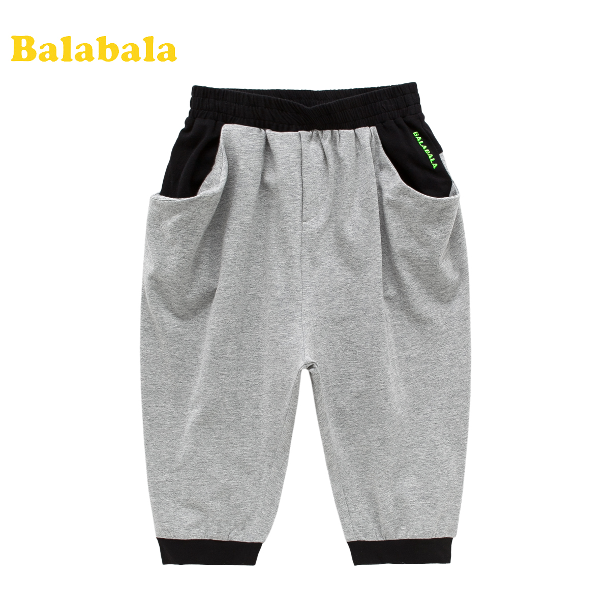巴拉巴拉 balabala 男童七分裤 儿童休闲百搭短裤子 2014夏季新款商品