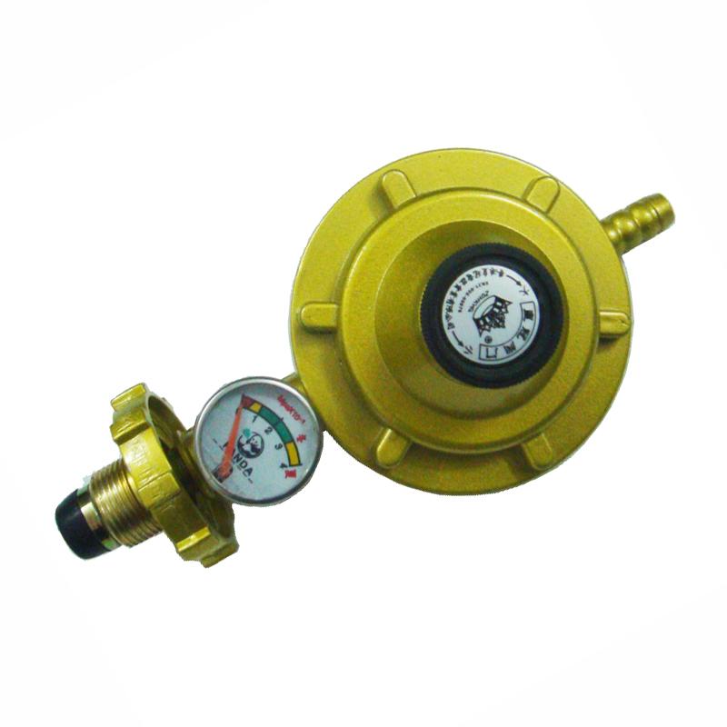 单咀带表减压阀 液化气灶液化气罐图片
