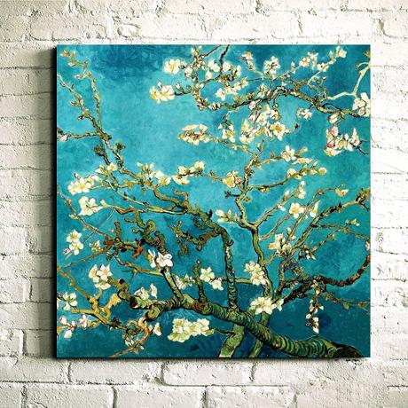 精准印花 梵高杏花十字绣 油画新款客厅卧室大幅花草系列世界名画商品