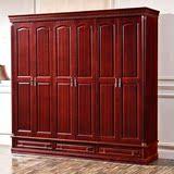 实木衣柜中式橡木衣橱现代简约推拉门婚房4568门特价定制厂家直销