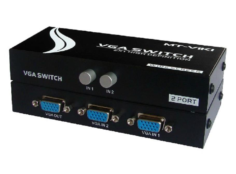 多主机切换器_迈拓vga切换器vga共享器2台主机接1台显示器mt-15-2ch宽屏高清商品