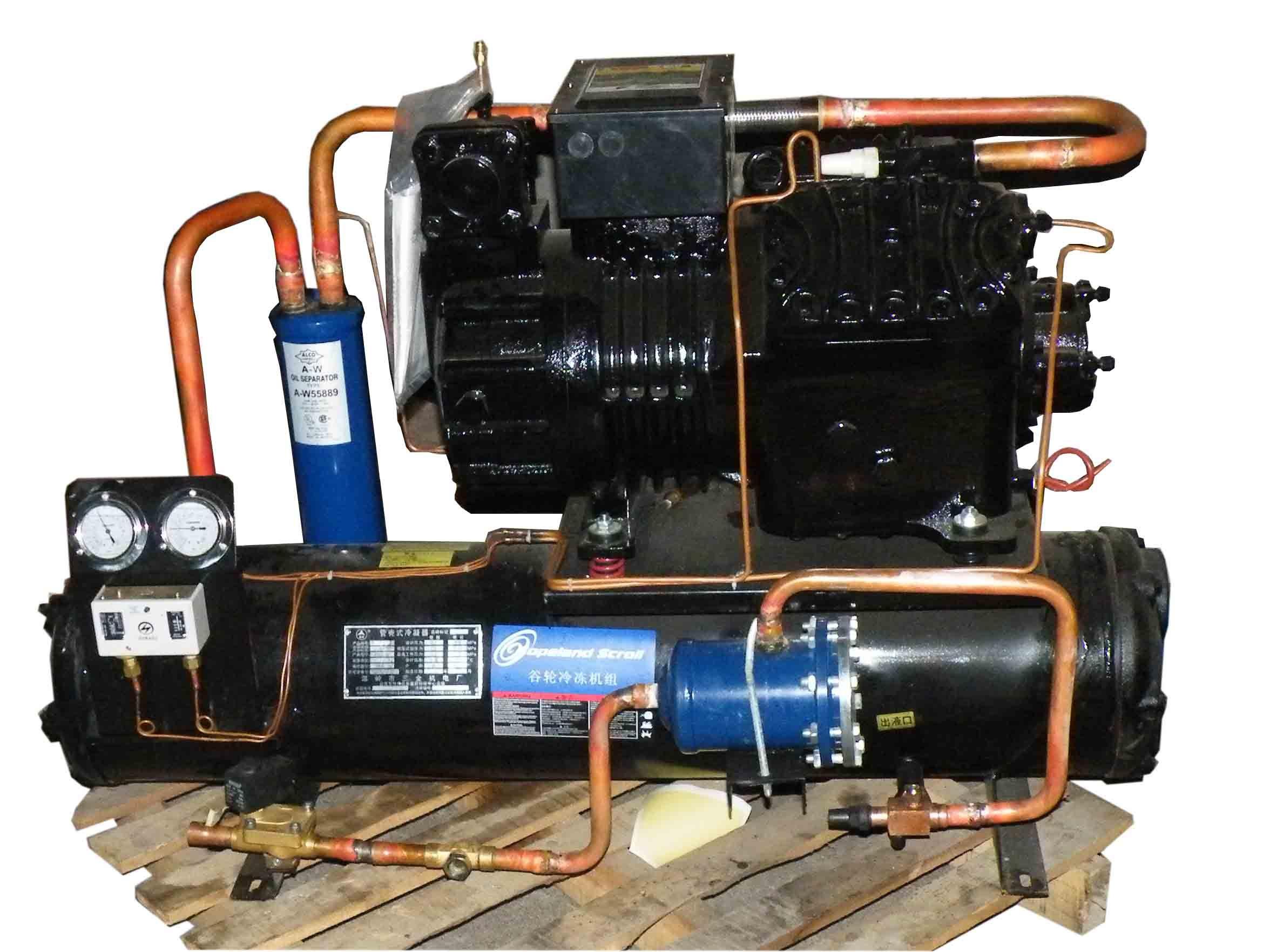 工业冷机_压缩机10hp/ 半封闭c-1000谷轮机组/冷水机组/开式工业制冷机商品图片